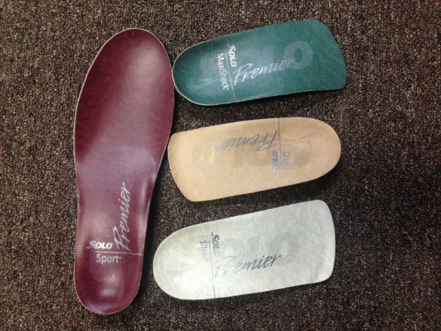 Support your feet with custom orthotics